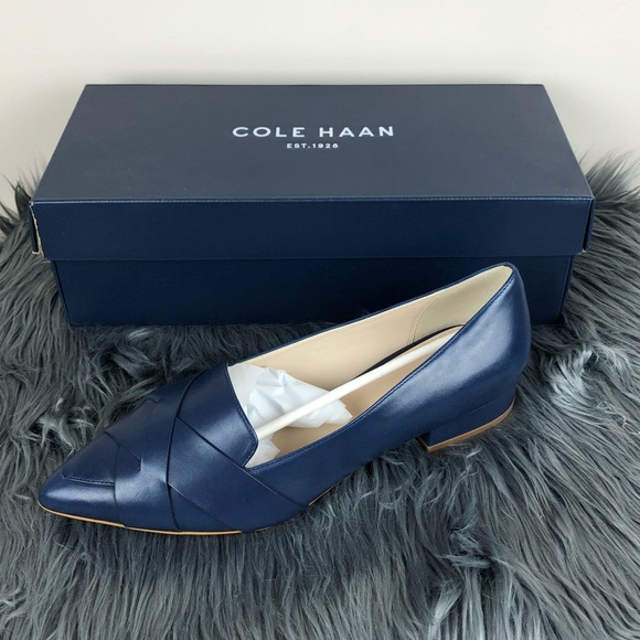 db3d063d2 Cole Haan Shoes | Camila Skimmer Flats Navy Blue Leather | Poshmark